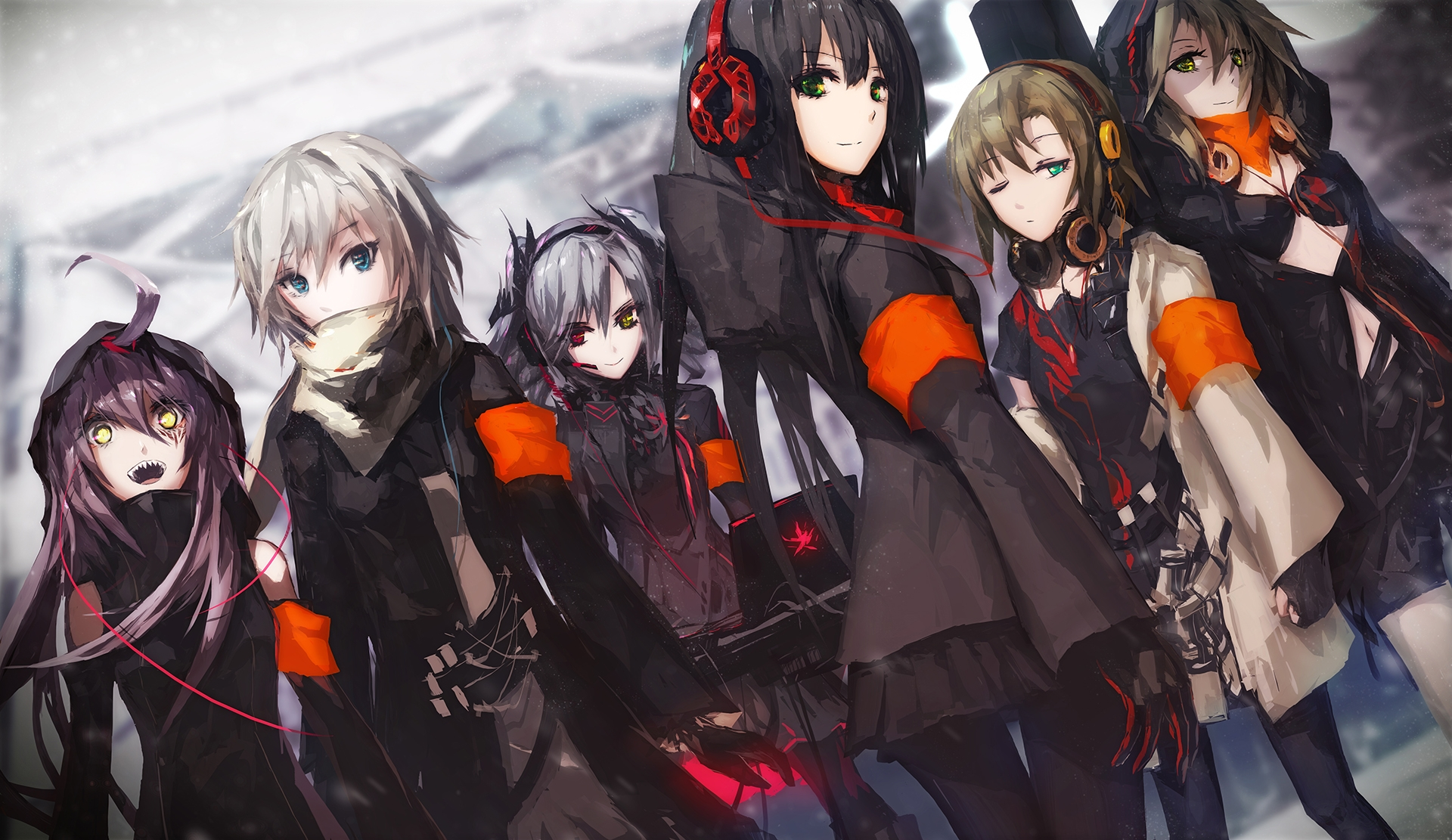 Anime Group Wallpaper Wallpaper Of The Week Headphone Girls 2 Randomness Thing